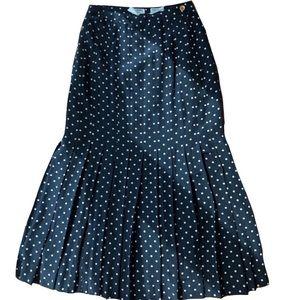 Chanel Vintage 1970's Polka Dot Midi Skirt